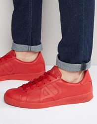Armani Jeans Logo Trainers Red