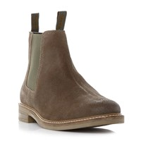 Barbour Slip On Casual Chelsea Boots Light Grey