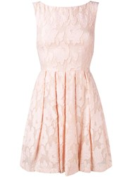 Blugirl Lace Fit And Flare Dress Pink Purple