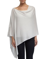 Minnie Rose Cashmere Cowl Neck Asymmetric Hem Poncho Concrete
