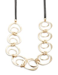Design Lab Lord And Taylor Nested Circle Statement Necklace Two Tone