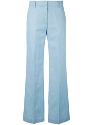 Barena Tailored Trousers Women Cotton Linen Flax 42 Blue