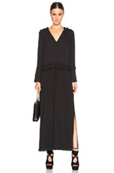 See By Chloe Drawstring Maxi Dress In Black