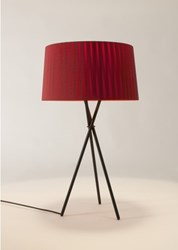Santa And Cole Tripode G6 Table Lamp Black Natural Red