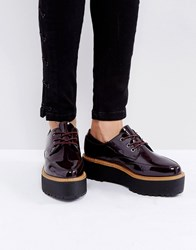 Sixty Seven Sixtyseven Chunky Sole Lace Up Shoes Oxblood Patent Red