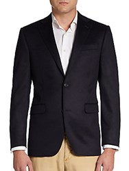 Saks Fifth Avenue Black Slim Fit Cashmere Sportcoat Black