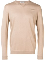 Laneus Long Sleeve Fitted Sweater Neutrals