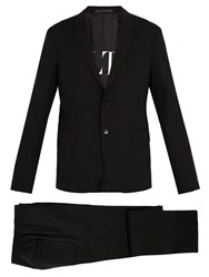 Valentino Single Breasted Wool Blend Suit Black