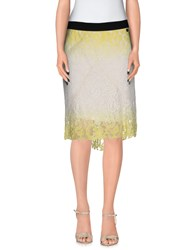 Tirdy Skirts Knee Length Skirts Women Yellow