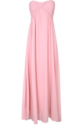Alice And You Ruched Bandeau Maxi Dress Pink