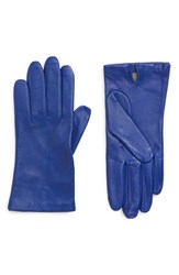 Nordstrom Lambskin Leather Gloves Electric Blue