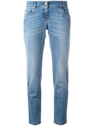 Brunello Cucinelli Straight Cropped Jeans Blue
