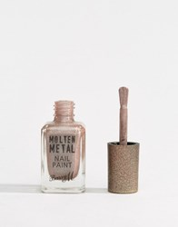 Barry M Molten Metal Nail Paint Holographic Moon Brown