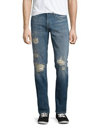 J Brand Jeans Tyler Distressed Denim Jeans Destructed Moore