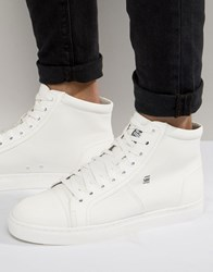 G Star Toublo Mid Trainers White