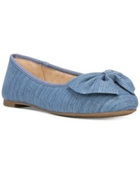 Sam Edelman Circus By Ciera Bow Ballet Flats Women's Shoes Light Denim