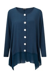 James Lakeland Long Sleeve Cardigan Blue