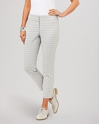 Phase Eight Pants Erica Oval Jacquard Silver And Ivory