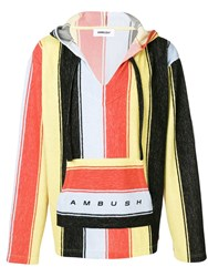 Ambush Striped Hoodie Orange