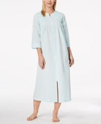 Miss Elaine Woven Pleated Robe Turquoise