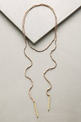 Anthropologie Braided Wrap Necklace Neutral Motif