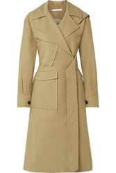 Rejina Pyo Avery Oversized Belted Two Tone Cotton Twill Trench Coat Sand