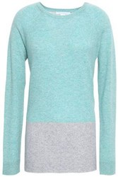 Duffy Two Tone Cashmere Sweater Sky Blue