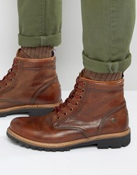 Tommy Hilfiger Denim Luca Lace Up Boots Brown