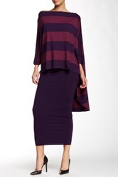 Nadia Tarr Fifi Oversized Hi Lo Blouse Purple