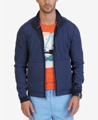 Nautica Men's Full Zip Track Jacket Blue Indigo Heather