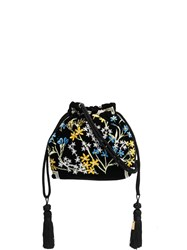 Etro Floral Embroidered Tote Bag Black