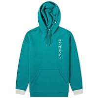 Givenchy Vertical Embroidered Logo Hoody Green