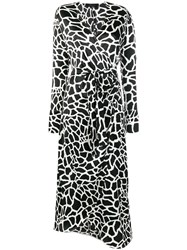 Federica Tosi Printed Wrap Dress Black