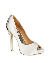 Badgley Mischka Kiara Platforms Stilettos White