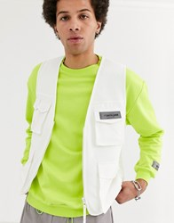 Sixth June Lightweight Utility Vest In White