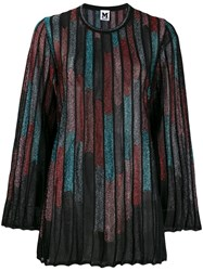M Missoni Abstract Print Ribbed Jumper Black