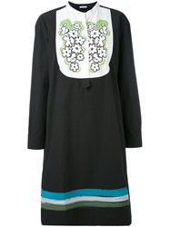Tomas Maier Embroidered Bib Dress Women Cotton 4 Black