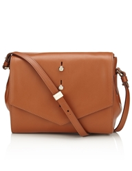 Thakoon Tan Saddle Downing Crossbody Bag Brown