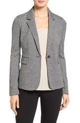 Nordstrom Women's Collection Italian Jersey One Button Blazer