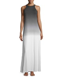 Cosabella Rimini Ombre Classic Maxi Lounge Dress White Black