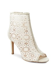 Nanette By Nanette Lepore Heidi Crochet Cage Ankle Boots Ivory