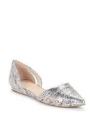 Vince Camuto Halette Leather D Orsay Flats Silver