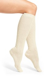 Wigwam Women's 'Retro Lilly' Merino Wool Blend Knee High Socks Natural