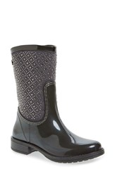 Posh Wellies Women's 'Cerussite' Crystal Embellished Rain Boot Graphite Fabric