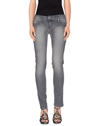 Compagnia Italiana Denim Denim Trousers Women Grey