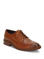 Ben Sherman Max Leather Wingtip Toe Dress Shoes Brown