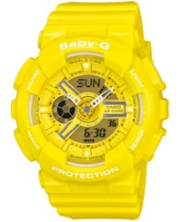 G Shock Baby G Women's Analog Digital Yellow Resin Strap Watch 46X43mm Ba110bc 9A
