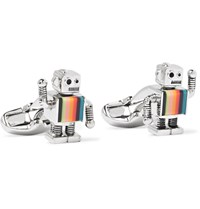 Paul Smith Robot Silver Tone And Enamel Cufflinks Silver