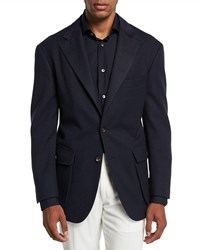 Stefano Ricci Campagna Wool Two Button Jacket Blue