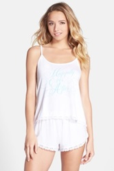 Wildfox Couture 'Dressed Up In Love' Camisole Pajamas White